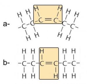 Abb. AB 1_2.2-5 a cis- / b- trans-Konfiguration